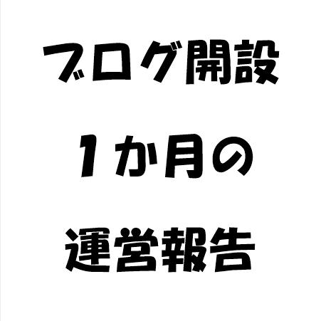 【PV数】ブログ開設1か月の運営報告【アドセンス収益】