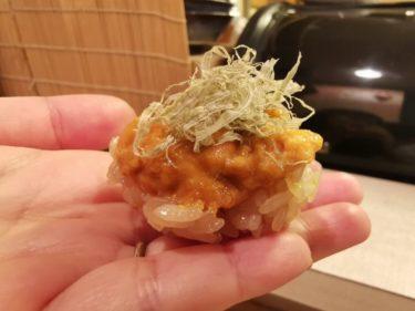 ビニールシートの先には楽園が!「ゑにし (えにし)」でうまい鮨をたらふく食ってきた@天満